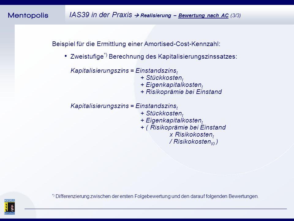 Umsetzung mehrerer, paralleler Bewertungsverfahren zum Aufbau einer Methodenkaskade.