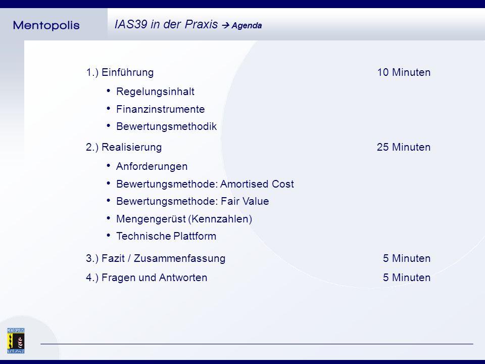 IAS39 in der Praxis Einführung