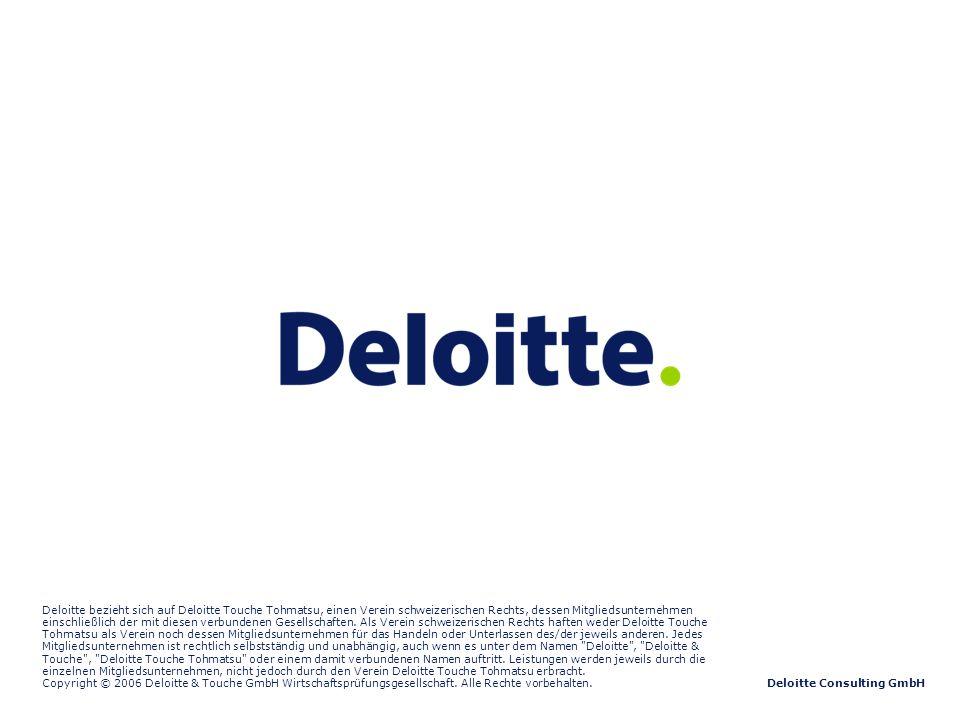 ©2007 Deloitte Consulting GmbH Studie – Phamazeutischer Großhandel Deloitte Consulting GmbH Deloitte bezieht sich auf Deloitte Touche Tohmatsu, einen