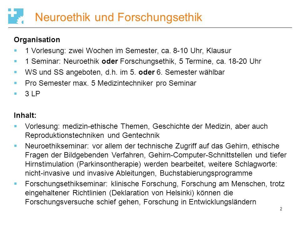 Anatomie-Chirurgie-Technik 3 Organisation Vorlesung/Seminar/hands-on klinische Anatomie 1 Woche Mitte Juni Mo.-Fr., ca.