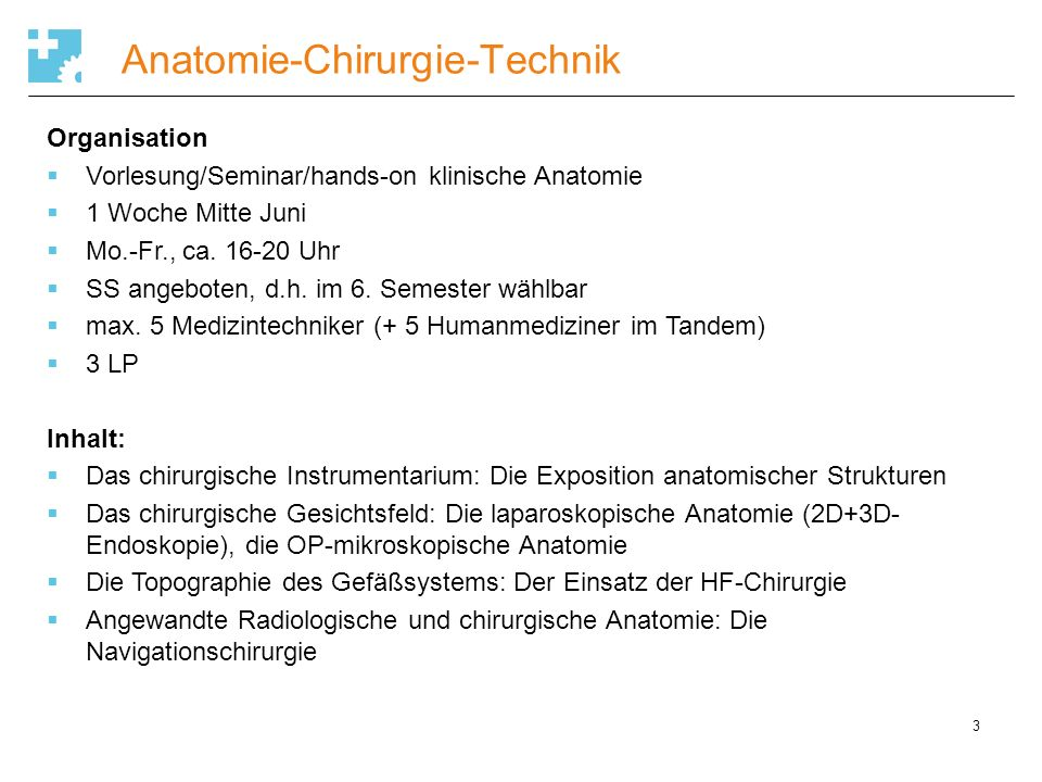 Vitale Implantate Wintersemester (5.FS)Sommersemester (6.