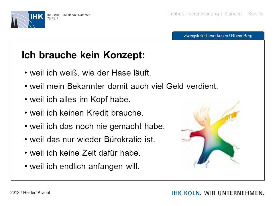 Freiheit + Verantwortung | Standort | Service Zweigstelle Leverkusen / Rhein-Berg Ich brauche kein Konzept: weil ich weiß, wie der Hase läuft. weil me