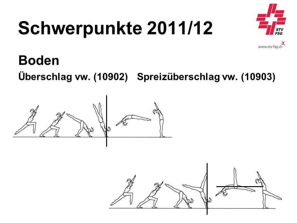 Schwerpunkte 2011/12 Boden Überschlag vw. (10902) Spreizüberschlag vw. (10903)
