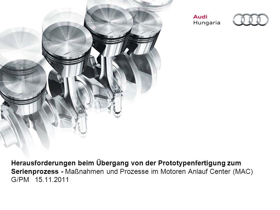 Herausforderungen beim Übergang von der Prototypenfertigung zum Serienprozess - Maßnahmen und Prozesse im Motoren Anlauf Center (MAC) G/PM 15.11.2011