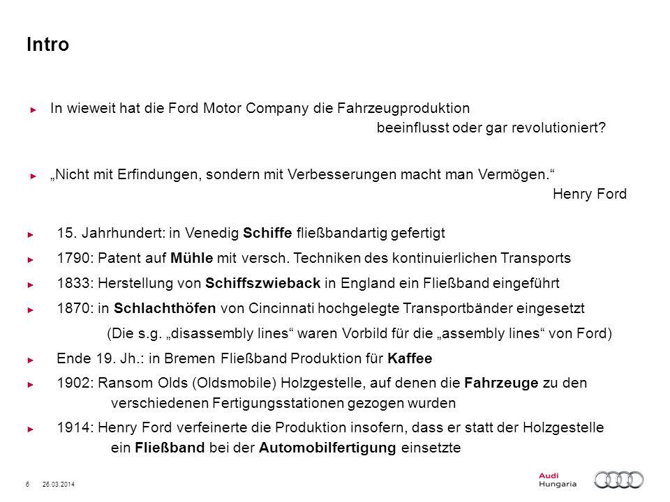 27 26.03.2014 Produkt- und Prozessbeeinflussung Chancen Optimierungsmöglichkeiten zum Produkt (Motor) und Prozess (z.B.