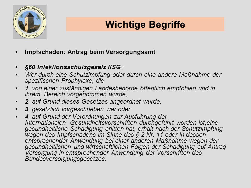 Impfschadensregister Anerkannte Impfschäden in der Bundesrepublik Deutschland 1990 -1999 (Meyer, Keller-Stanislawski, Schnitzler) RKI, PEI, BfG Bundesgesundheitsblatt 45 / 2002, Seite 364-370
