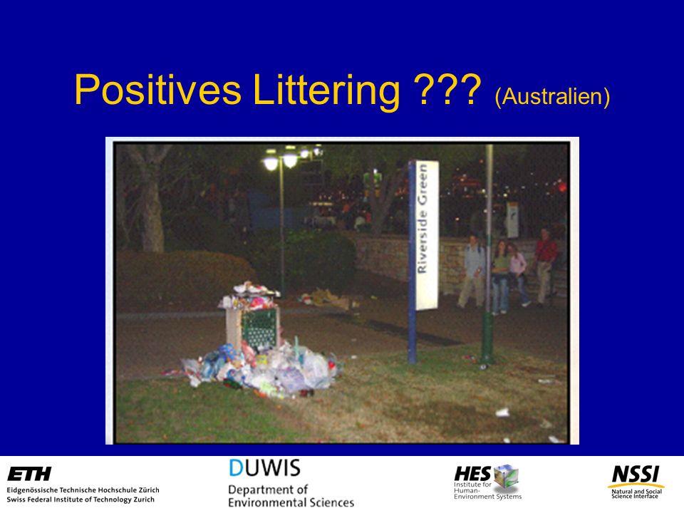 Positives Littering ??? (Australien)