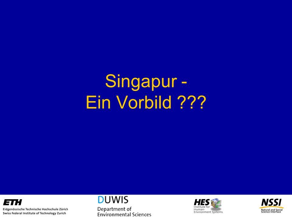 Singapur - Ein Vorbild ???