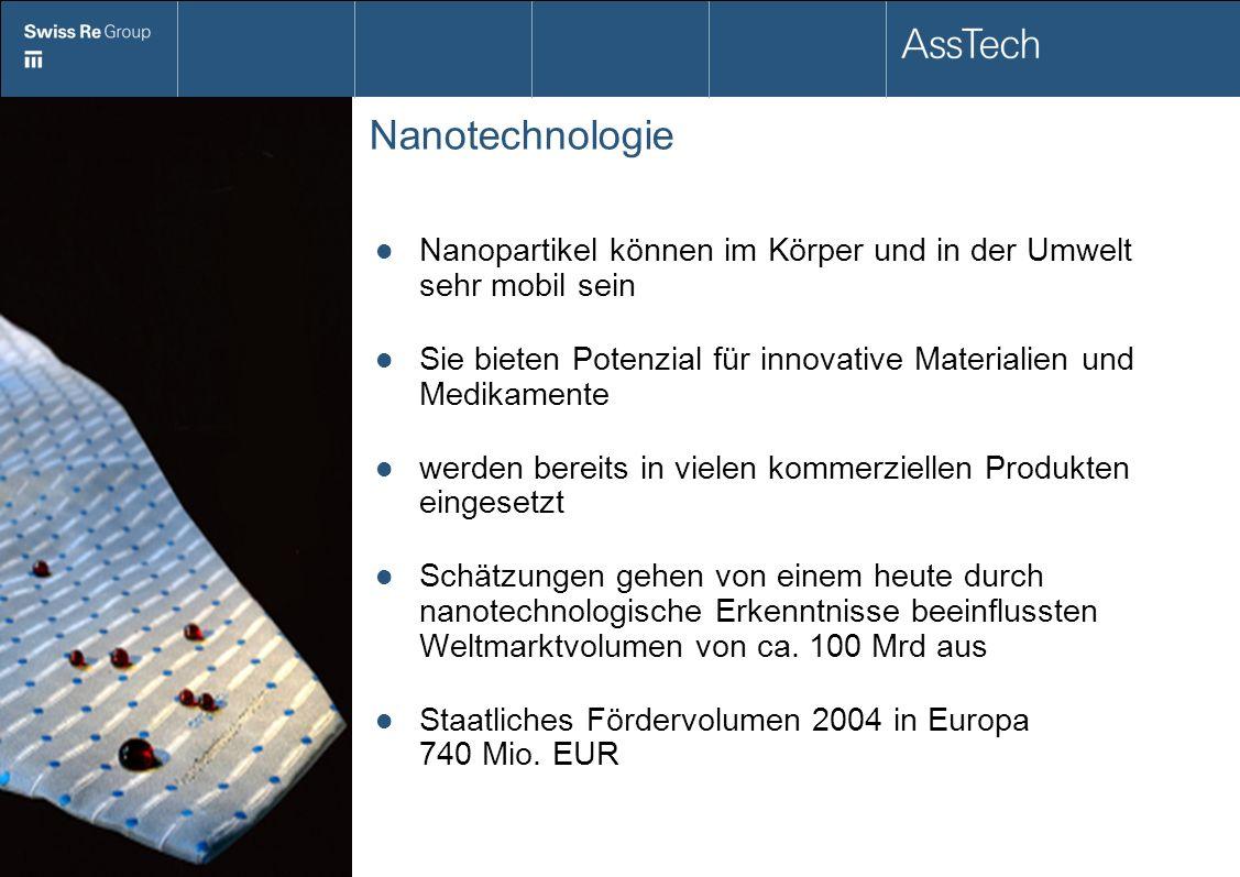 Nanotechnologie Nanopartikel können im Körper und in der Umwelt sehr mobil sein Sie bieten Potenzial für innovative Materialien und Medikamente werden