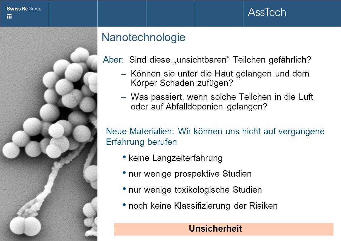 Nanotechnologie Aber: Sind diese unsichtbaren Teilchen gefährlich? –Können sie unter die Haut gelangen und dem Körper Schaden zufügen? –Was passiert,