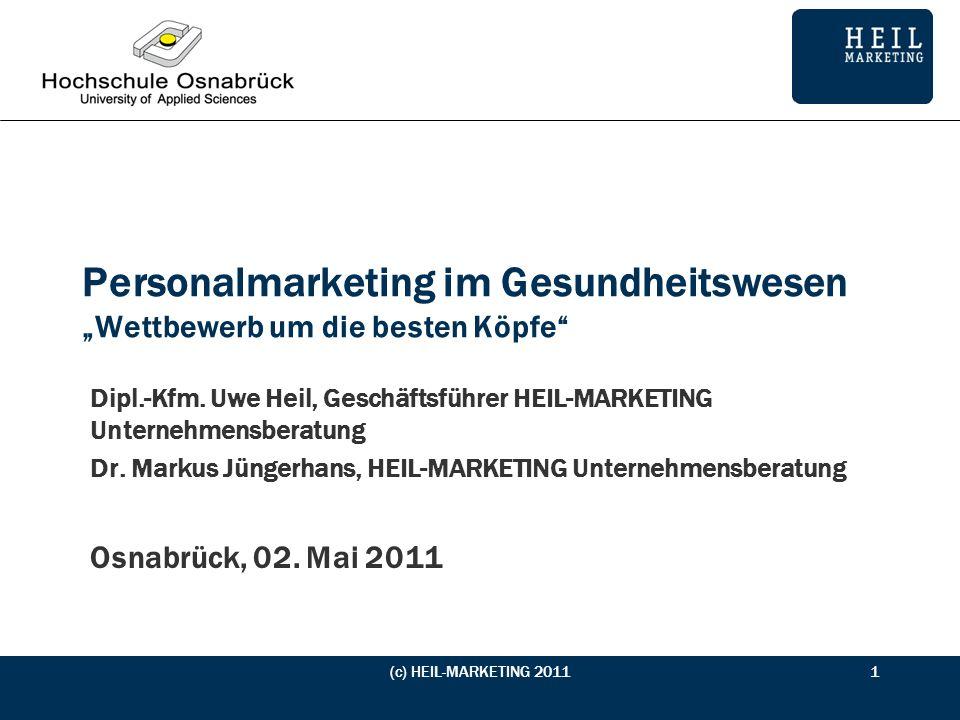 Vorstellung Teilnehmer (c) HEIL-MARKETING 20112 Studiengang Schwerpunkt Bisherige Erfahrungen mit Personalmarketing Erwartungen an die Projektwoche