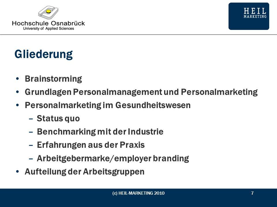 Brainstorming Was ist Personalmarketing? (c) HEIL-MARKETING 20108