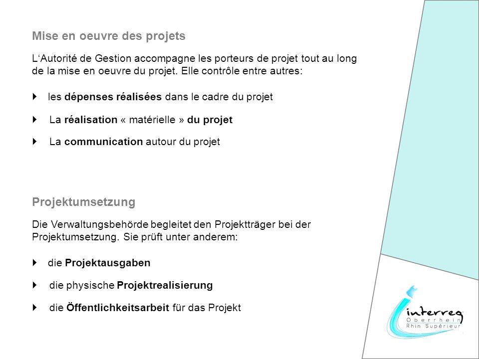 LAutorité de Gestion accompagne les porteurs de projet tout au long de la mise en oeuvre du projet.