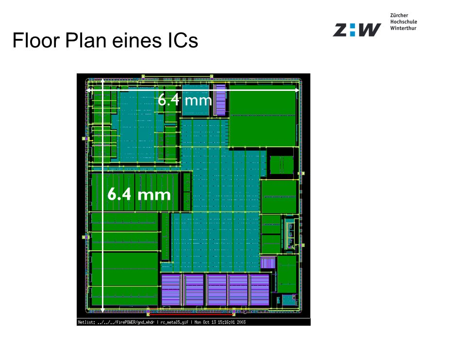 Floor Plan eines ICs 6.4 mm