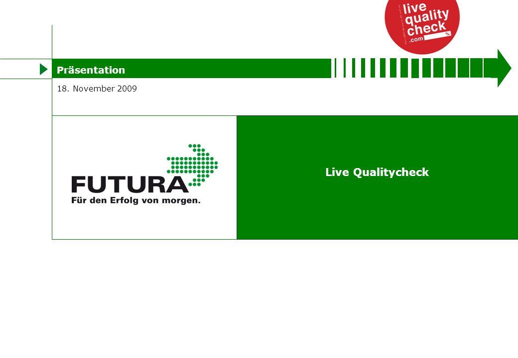 Titelmasterformat durch Klicken bearbeiten Live Qualitycheck 18. November 2009 Präsentation