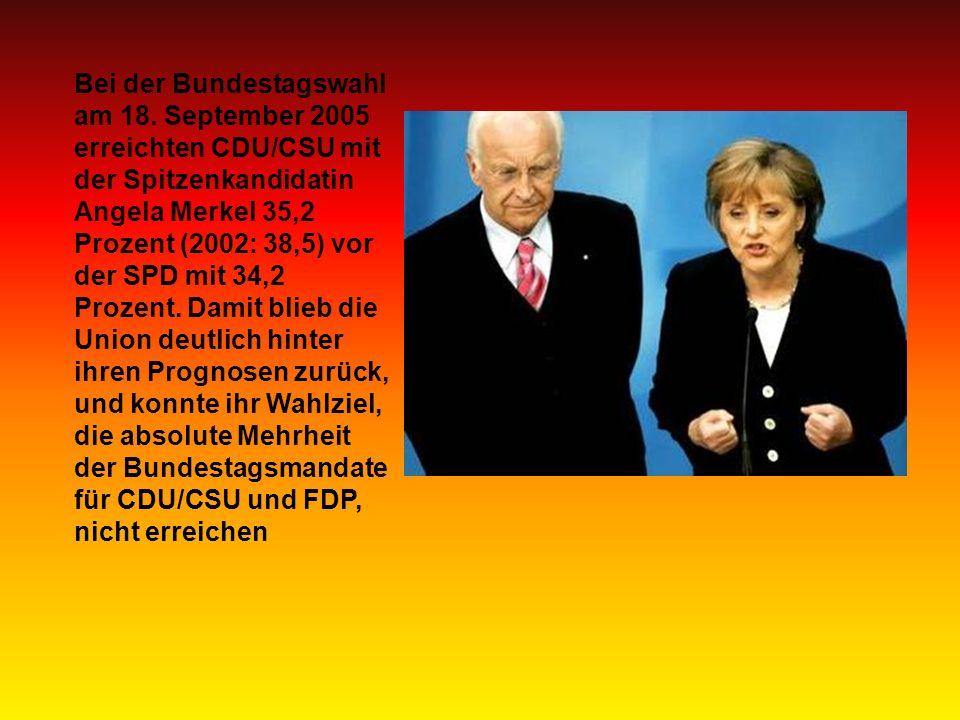 Bei der Bundestagswahl am 18.