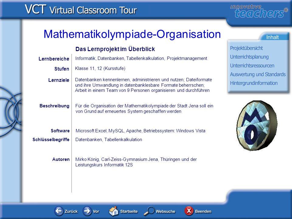 Aufgabe und Lösung - 8 Phase 8 der Mathematikolympiade: Die Nachbereitung Hat alles geklappt.