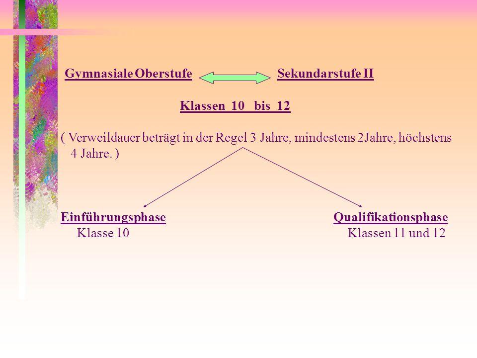 Die Fächer und Hauptfächer werden verschiedenen Aufgabenfeldern zugeordnet 1.