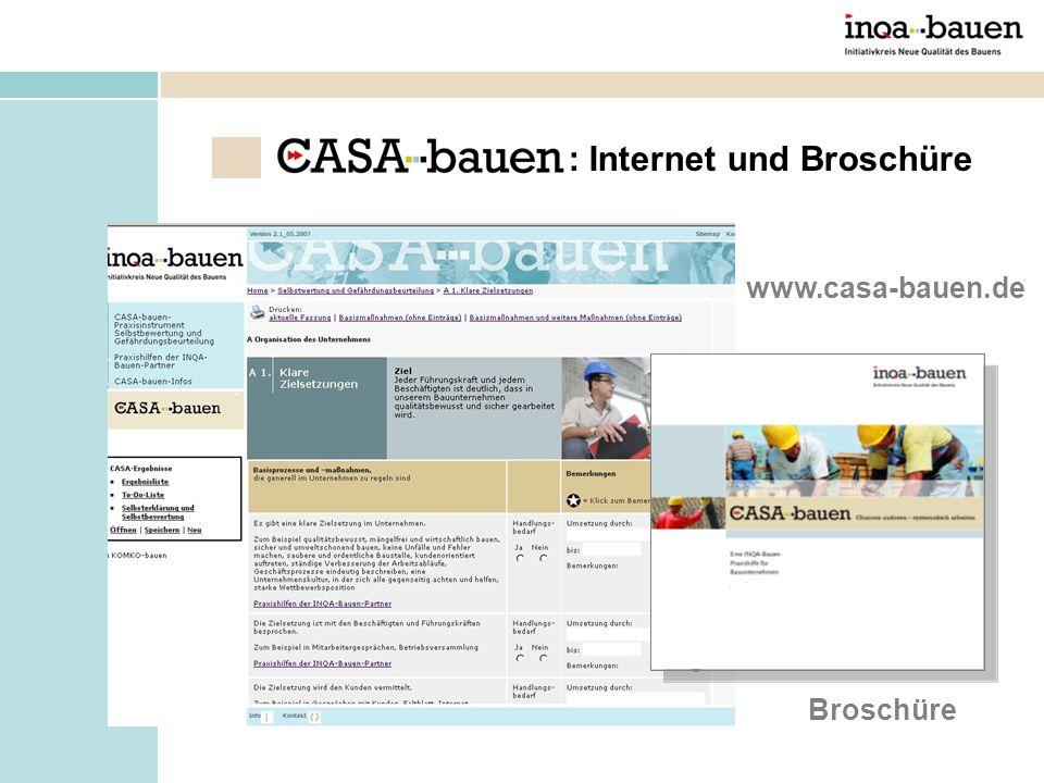 www.casa-bauen.de Broschüre : Internet und Broschüre