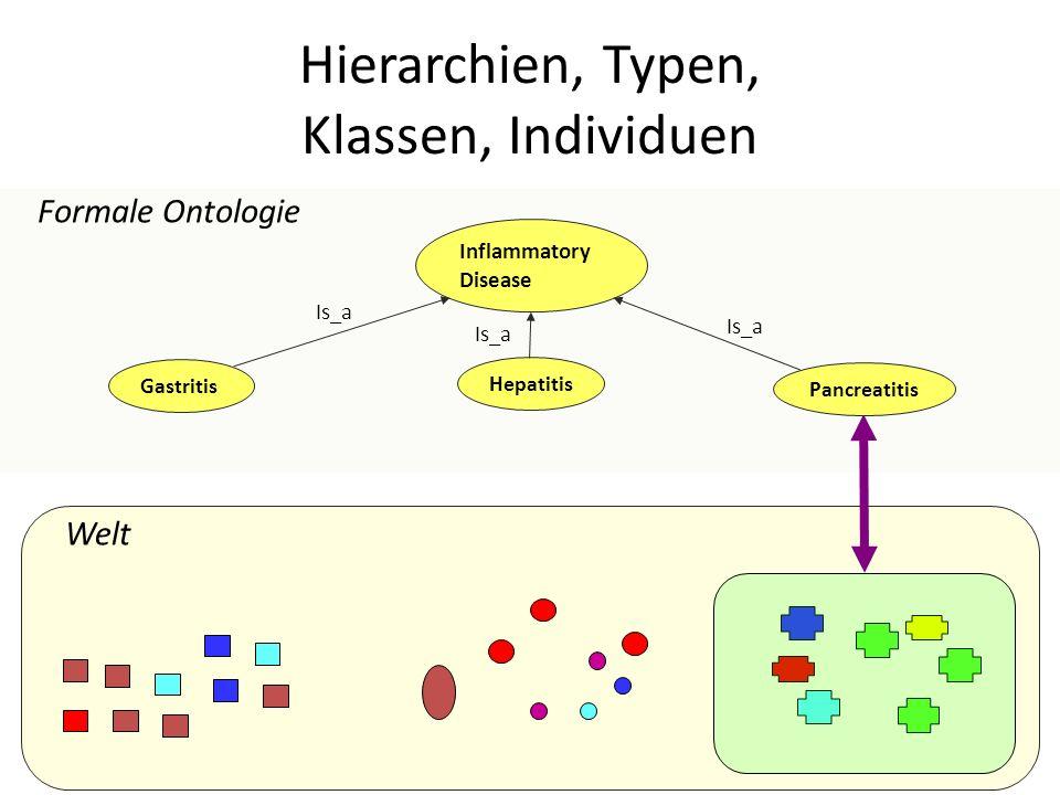 Welt Formale Ontologie Inflammatory Disease Is_a Gastritis Pancreatitis Hepatitis Is_a Hierarchien, Typen, Klassen, Individuen