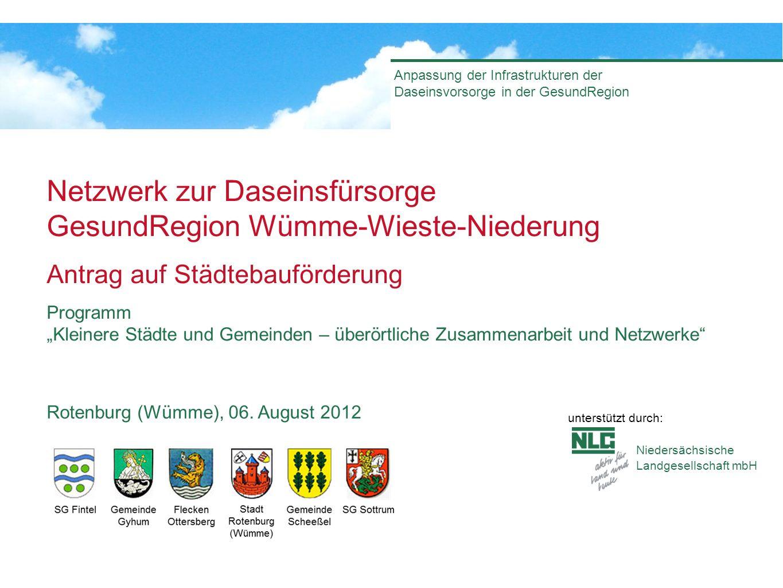 Niedersächsische Landgesellschaft mbH Anpassung der Infrastrukturen der Daseinsvorsorge in der GesundRegion Netzwerk zur Daseinsfürsorge GesundRegion