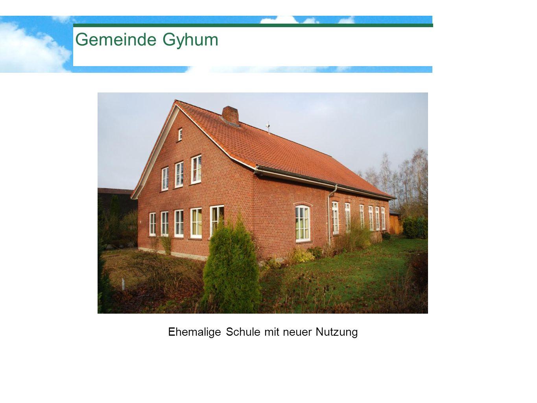 Gemeinde Gyhum Ehemalige Schule mit neuer Nutzung