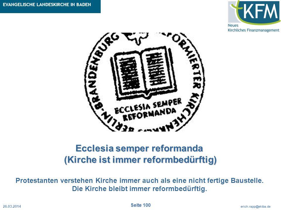 Rubrik / Übergeordnetes Thema Projekt Erweiterte Betriebskameralistik Seite 100 erich.rapp@ekiba.de Rubrik / Übergeordnetes Thema EVANGELISCHE LANDESK