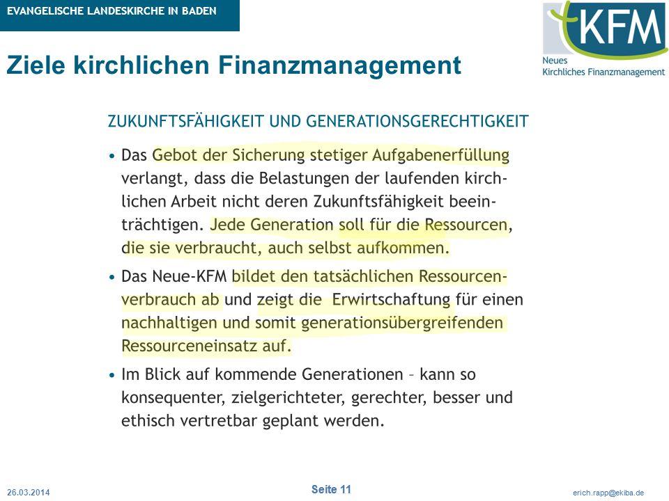 Rubrik / Übergeordnetes Thema Projekt Erweiterte Betriebskameralistik Seite 11 erich.rapp@ekiba.de Rubrik / Übergeordnetes Thema EVANGELISCHE LANDESKI