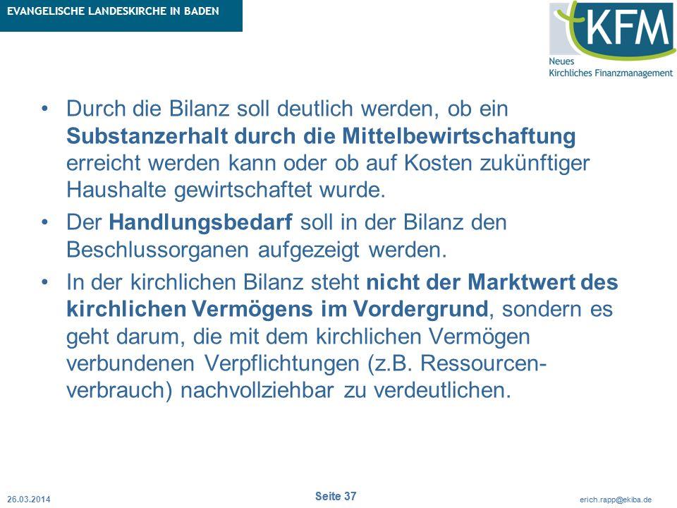 Rubrik / Übergeordnetes Thema Projekt Erweiterte Betriebskameralistik Seite 37 erich.rapp@ekiba.de Rubrik / Übergeordnetes Thema EVANGELISCHE LANDESKI