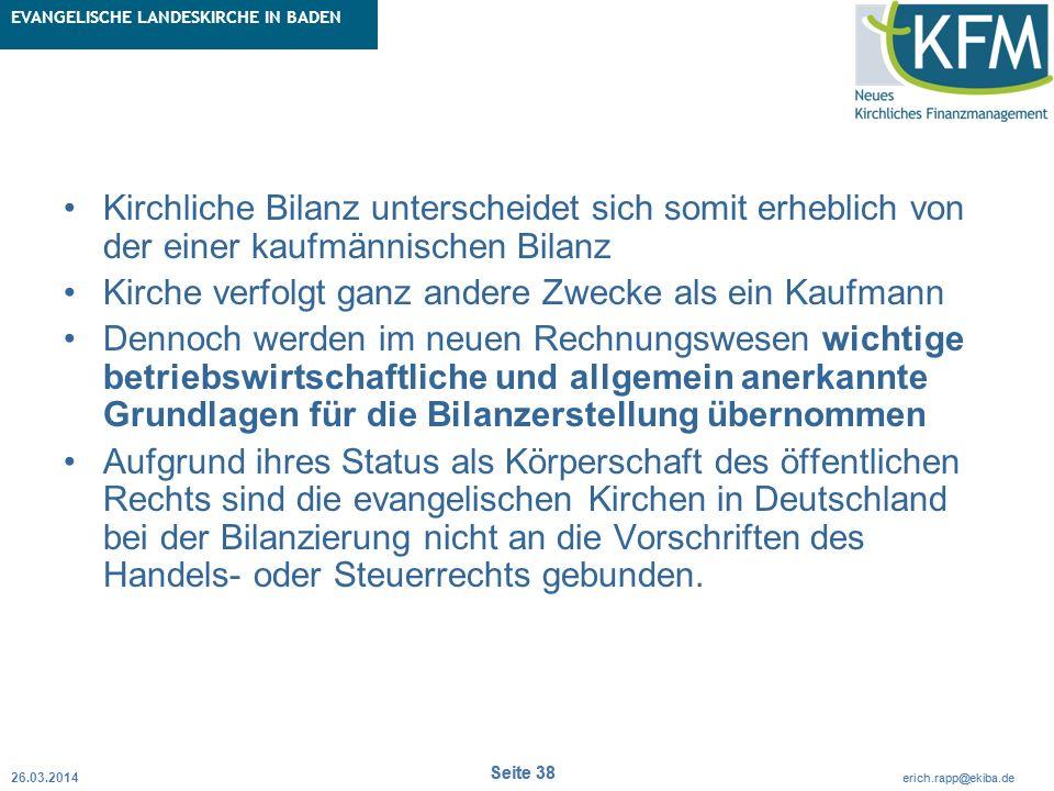 Rubrik / Übergeordnetes Thema Projekt Erweiterte Betriebskameralistik Seite 38 erich.rapp@ekiba.de Rubrik / Übergeordnetes Thema EVANGELISCHE LANDESKI