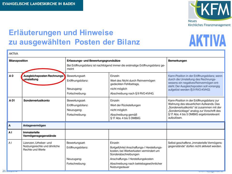 Rubrik / Übergeordnetes Thema Projekt Erweiterte Betriebskameralistik Seite 42 erich.rapp@ekiba.de Rubrik / Übergeordnetes Thema EVANGELISCHE LANDESKI