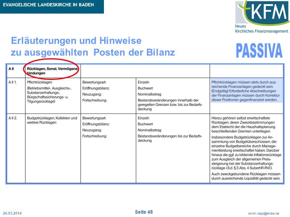 Rubrik / Übergeordnetes Thema Projekt Erweiterte Betriebskameralistik Seite 48 erich.rapp@ekiba.de Rubrik / Übergeordnetes Thema EVANGELISCHE LANDESKI