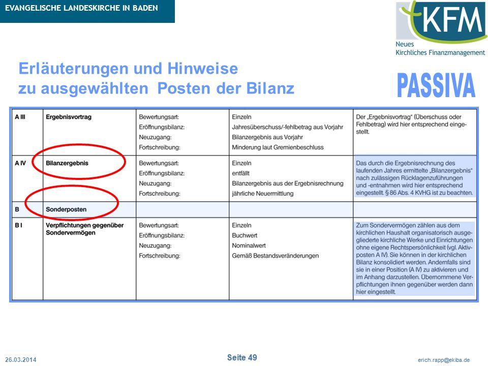 Rubrik / Übergeordnetes Thema Projekt Erweiterte Betriebskameralistik Seite 49 erich.rapp@ekiba.de Rubrik / Übergeordnetes Thema EVANGELISCHE LANDESKI