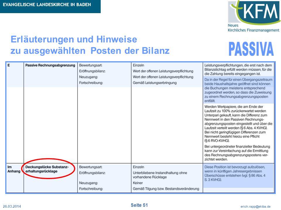 Rubrik / Übergeordnetes Thema Projekt Erweiterte Betriebskameralistik Seite 51 erich.rapp@ekiba.de Rubrik / Übergeordnetes Thema EVANGELISCHE LANDESKI