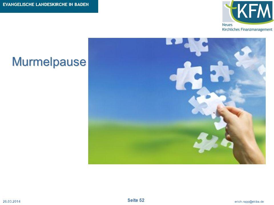 Rubrik / Übergeordnetes Thema Projekt Erweiterte Betriebskameralistik Seite 52 erich.rapp@ekiba.de Rubrik / Übergeordnetes Thema EVANGELISCHE LANDESKI