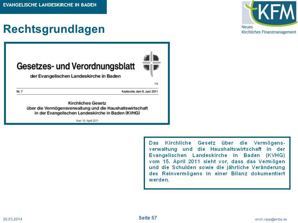 Rubrik / Übergeordnetes Thema Projekt Erweiterte Betriebskameralistik Seite 57 erich.rapp@ekiba.de Rubrik / Übergeordnetes Thema EVANGELISCHE LANDESKI