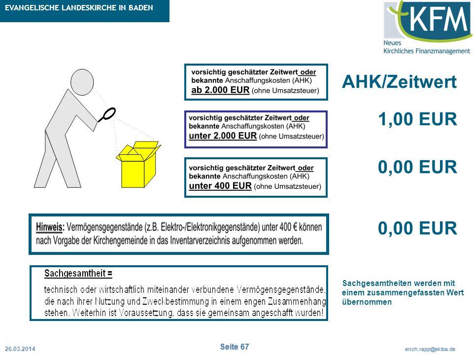 Rubrik / Übergeordnetes Thema Projekt Erweiterte Betriebskameralistik Seite 67 erich.rapp@ekiba.de Rubrik / Übergeordnetes Thema EVANGELISCHE LANDESKI