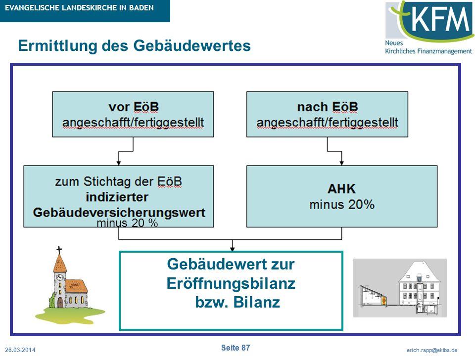 Rubrik / Übergeordnetes Thema Projekt Erweiterte Betriebskameralistik Seite 87 erich.rapp@ekiba.de Rubrik / Übergeordnetes Thema EVANGELISCHE LANDESKI