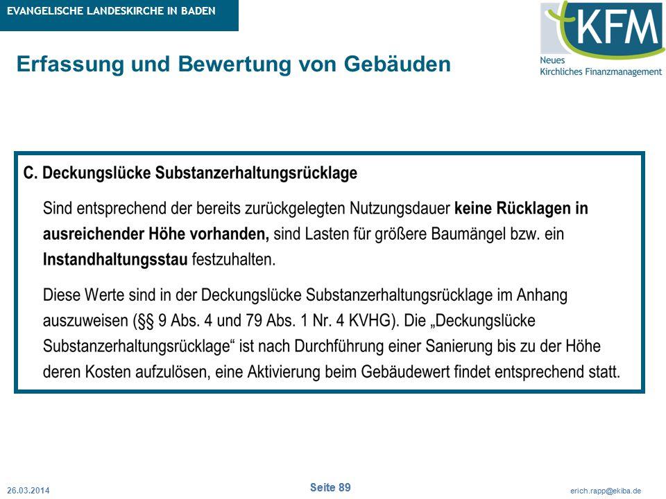 Rubrik / Übergeordnetes Thema Projekt Erweiterte Betriebskameralistik Seite 89 erich.rapp@ekiba.de Rubrik / Übergeordnetes Thema EVANGELISCHE LANDESKI