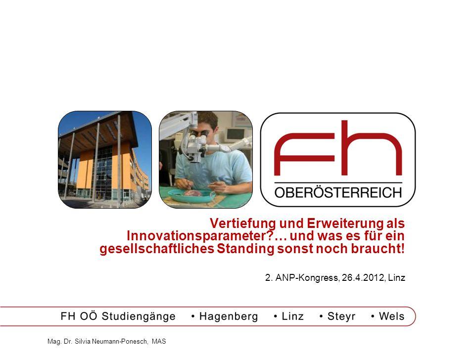 Vertiefung und Erweiterung als Innovationsparameter?… und was es für ein gesellschaftliches Standing sonst noch braucht! 2. ANP-Kongress, 26.4.2012, L