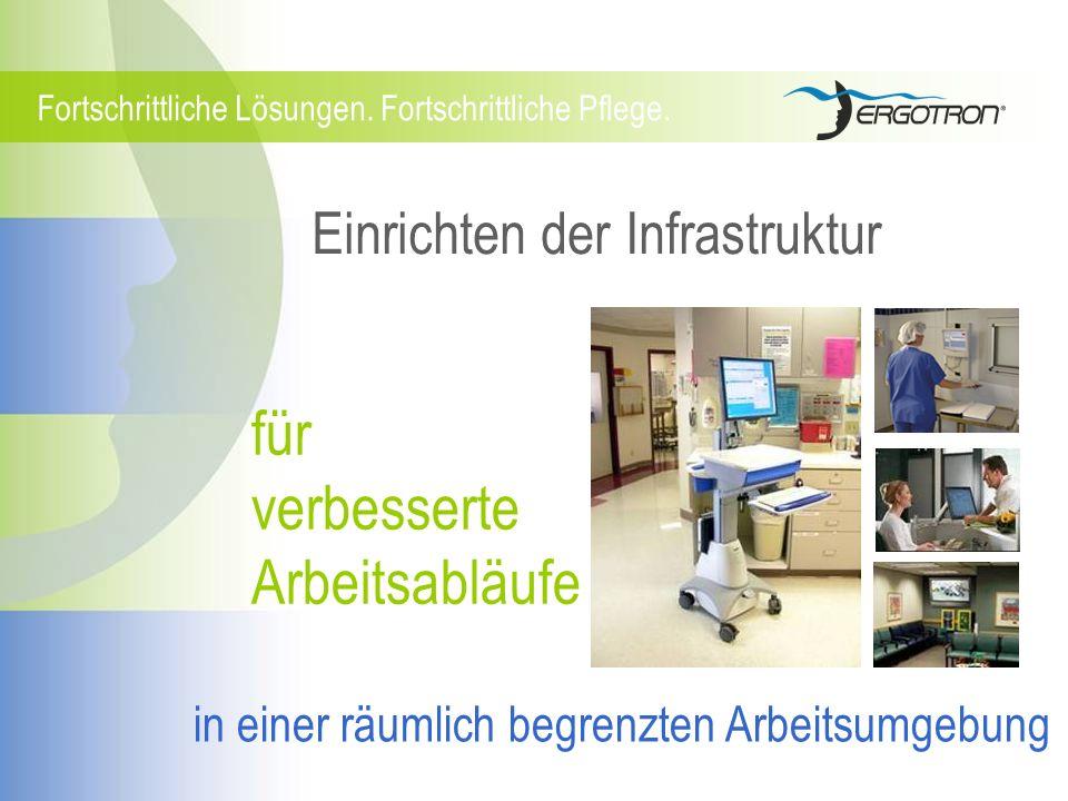 Fortschrittliche Pflege. Einrichten der Infrastruktur Fortschrittliche Lösungen. für verbesserte Arbeitsabläufe in einer räumlich begrenzten Arbeitsum