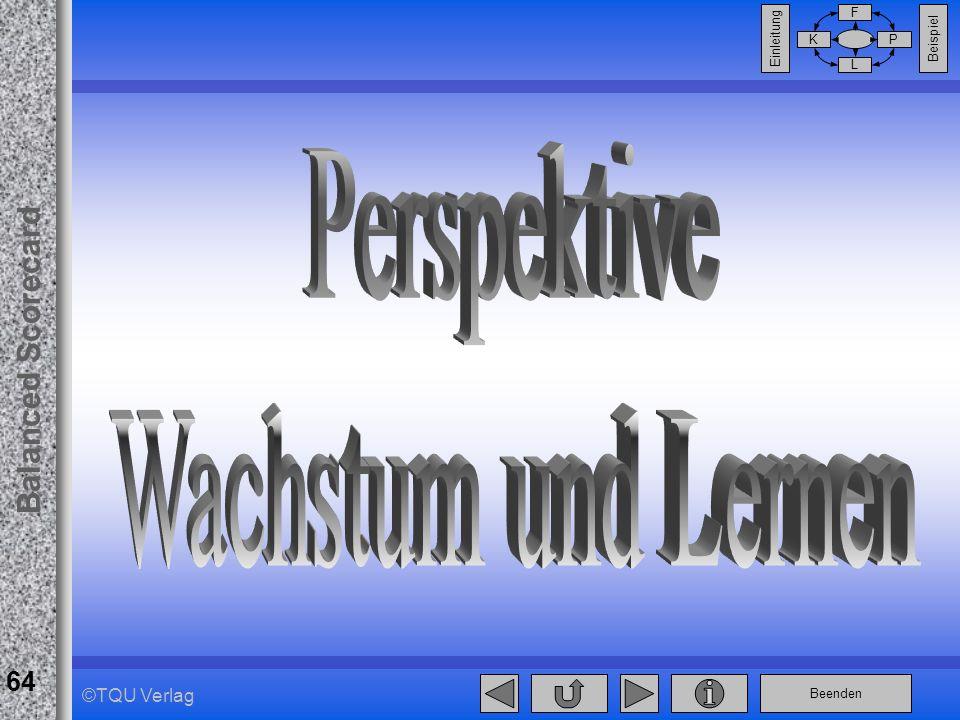Beenden Balanced Scorecard F PK L Beispiel Einleitung 64 ©TQU Verlag
