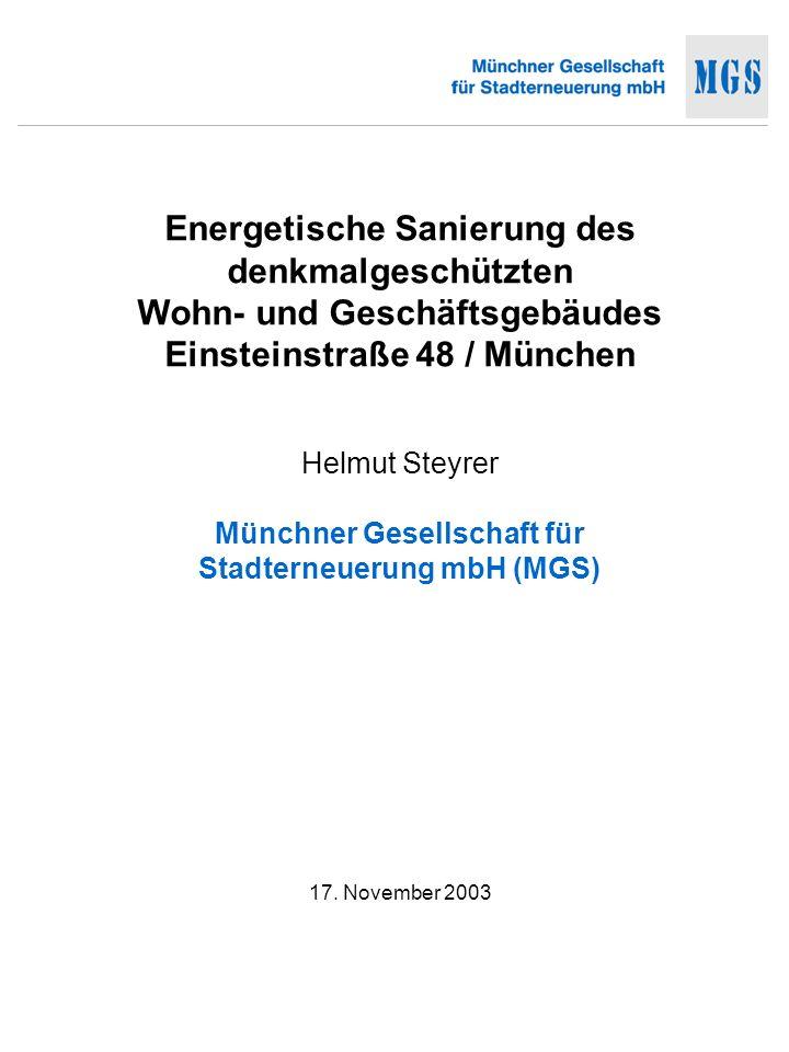 Energetische Sanierung Einsteinstr.
