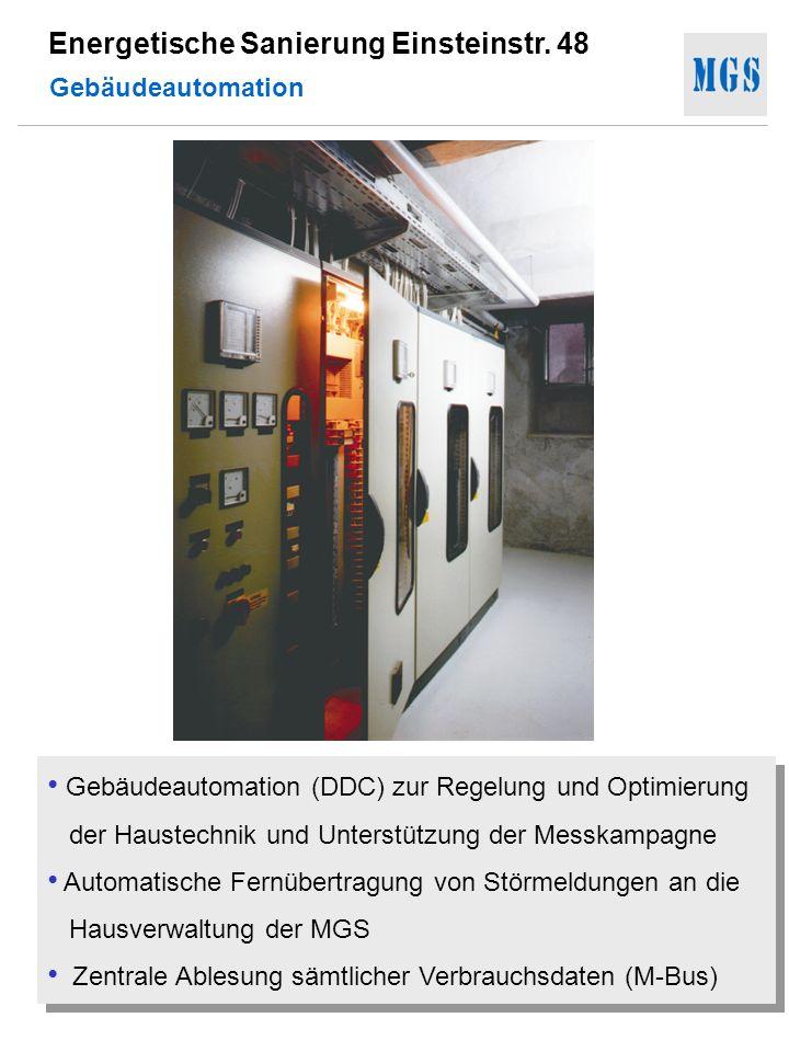 Energetische Sanierung Einsteinstr. 48 Gebäudeautomation (DDC) zur Regelung und Optimierung der Haustechnik und Unterstützung der Messkampagne Automat