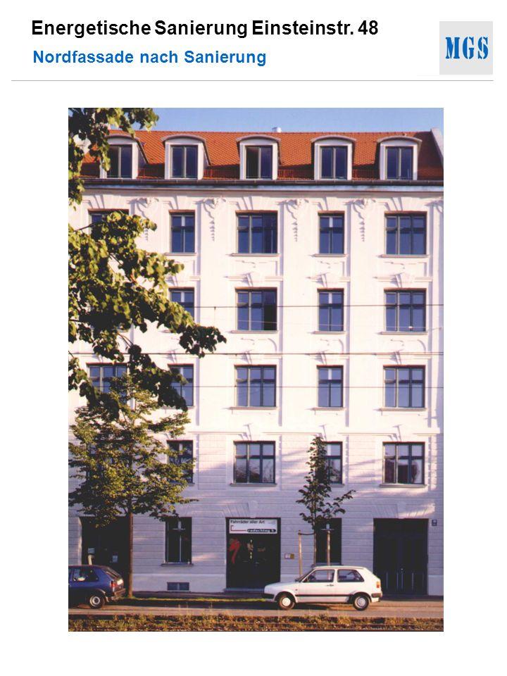 Energetische Sanierung Einsteinstr. 48 Nordfassade nach Sanierung