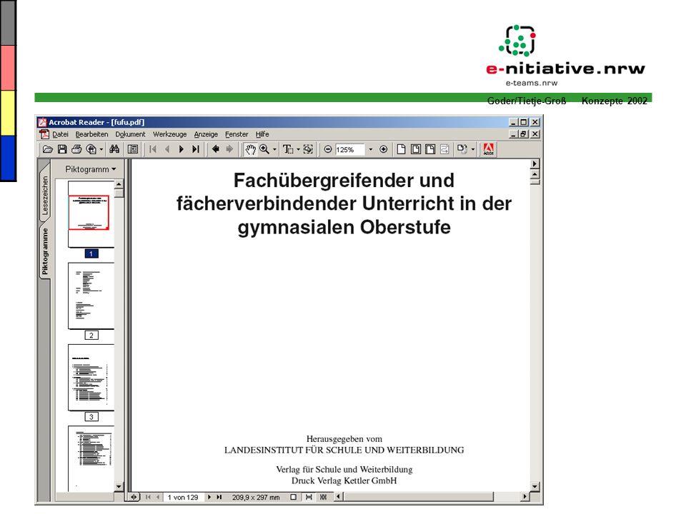 Goder/Tietje-Groß Konzepte 2002