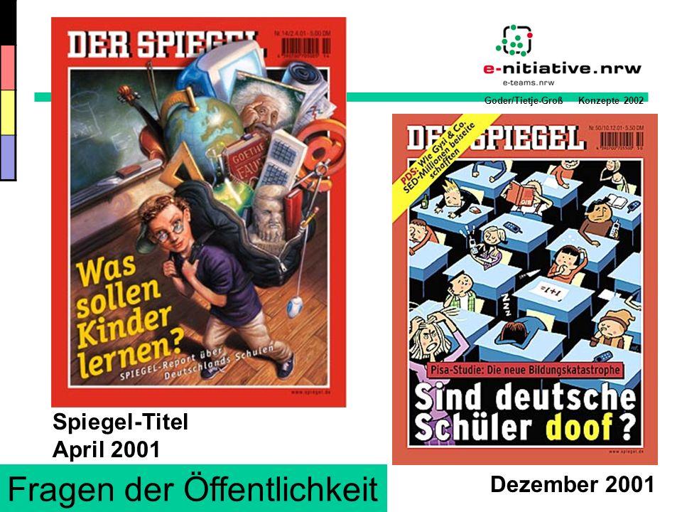Goder/Tietje-Groß Konzepte 2002 Medienkonzept einer Schule Neue Strukturen etablieren & nutzen.