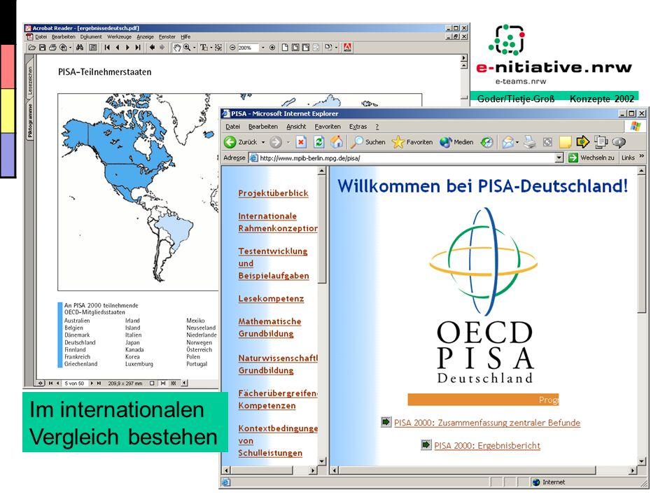Goder/Tietje-Groß Konzepte 2002 Die 6 Stufen der Entwicklung eines medienpädagogischen Konzeptes 6.