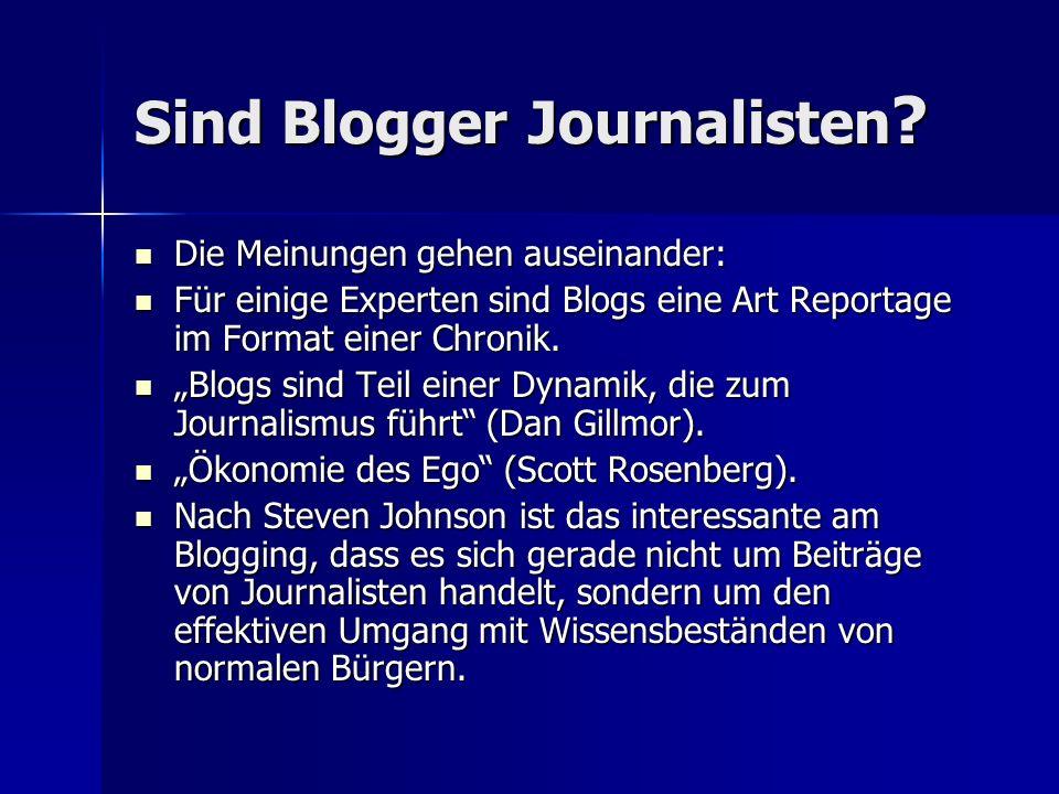 Sind Blogger Journalisten .