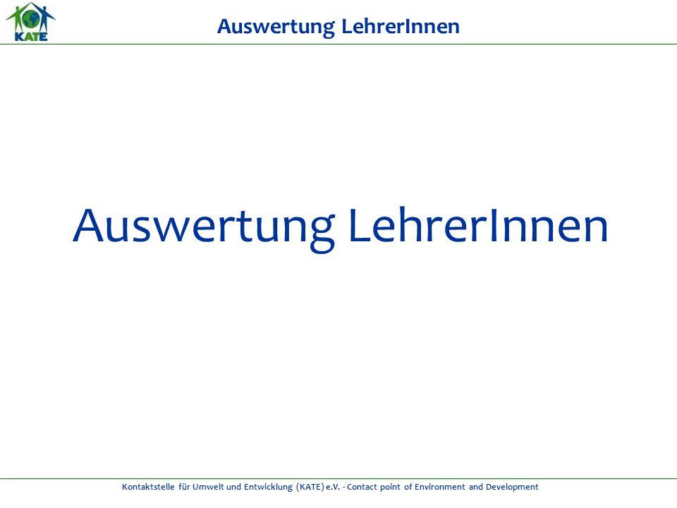 Kontaktstelle für Umwelt und Entwicklung (KATE) e.V.